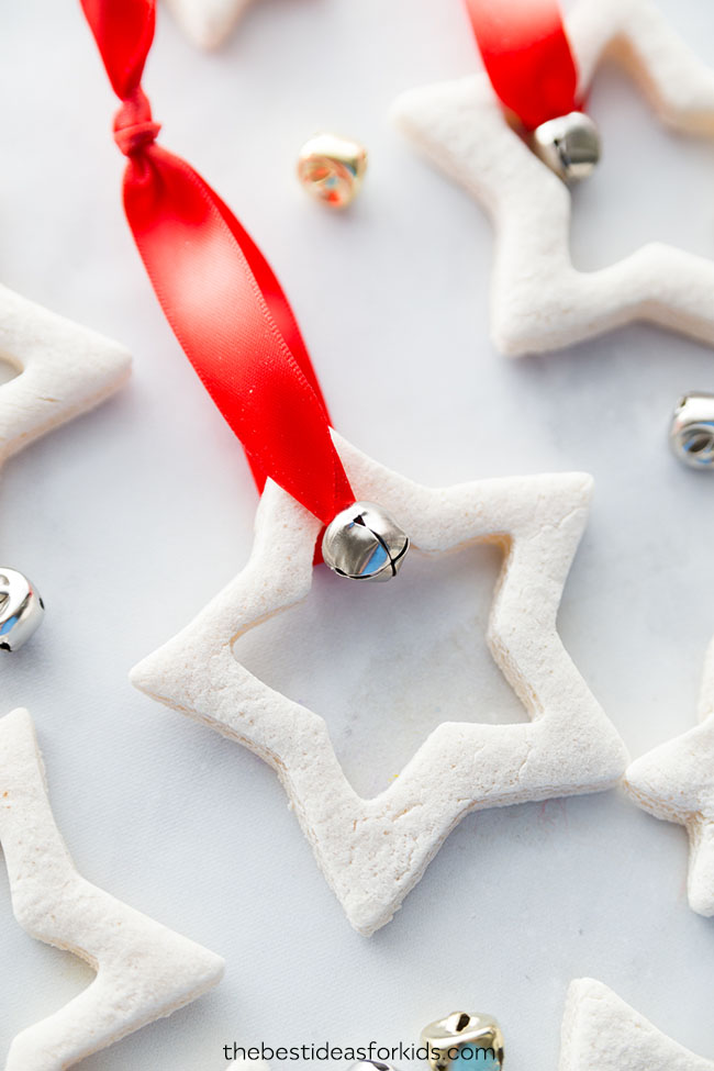 how to make salt dough ornaments and decorations jingly star ornament