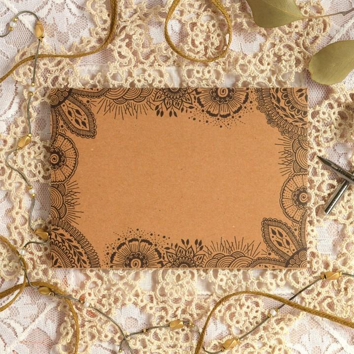 creative ideas using henna patterns in crafts envelope