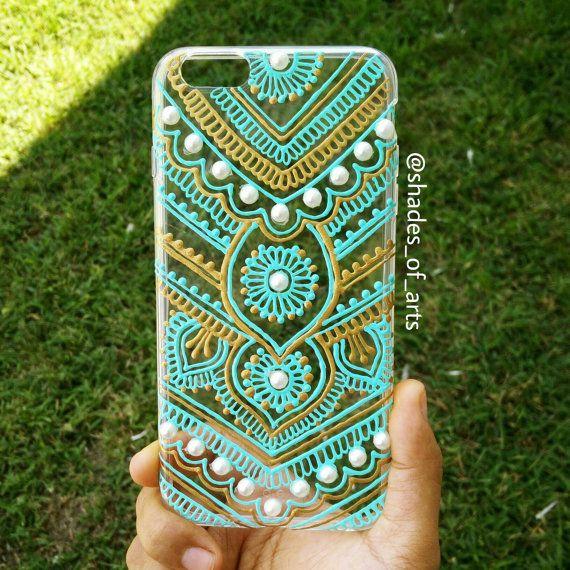 creative ideas using henna patterns in crafts phone case
