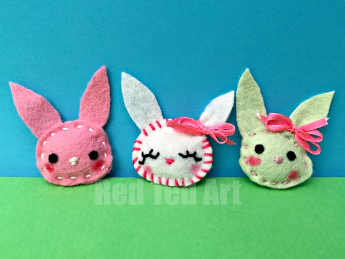 17 easy sewing projects for kids felt bunny brooch