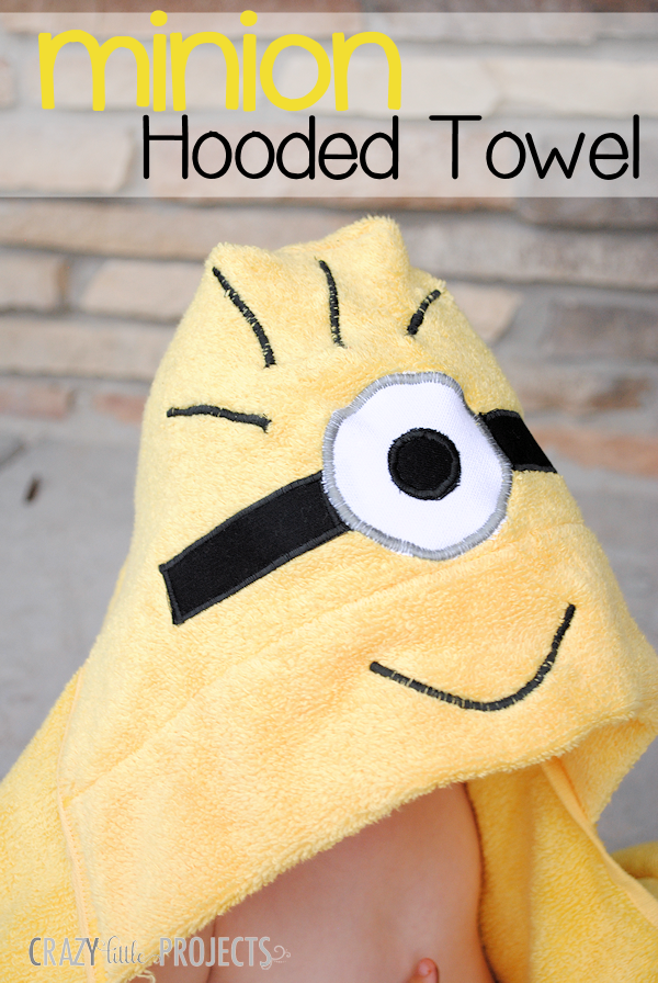 17 easy sewing projects for kids minion hooded towel