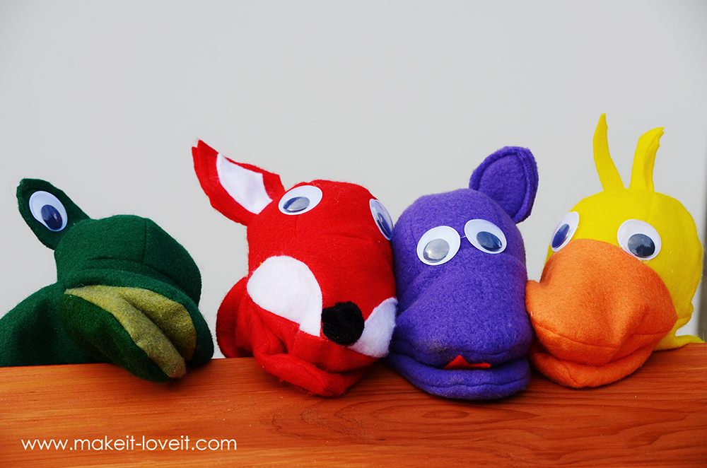 17 easy sewing projects for kids animal hand puppet