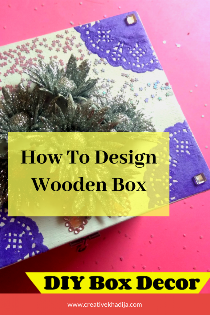 how to decorate a small wooden box