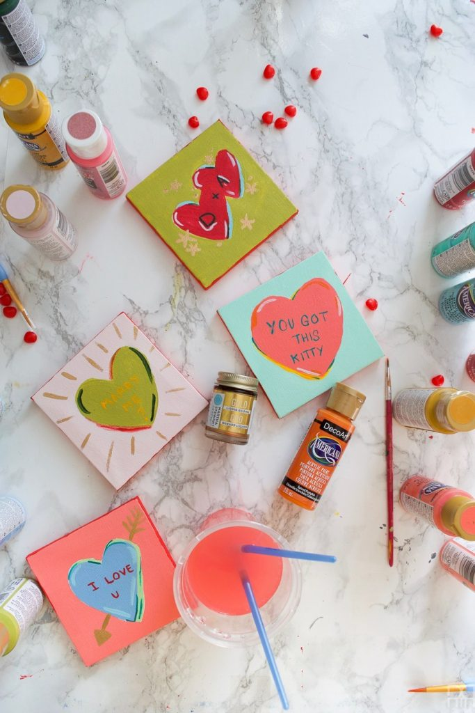 31 gifts and crafts to try for valentine's day 2020 heart canvases