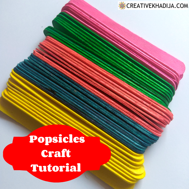 DIY Popsicle Stick Craft Colorful Wall Art Idea