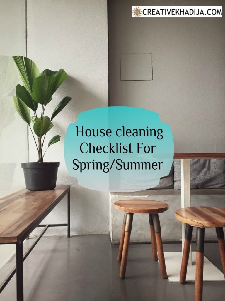 House Cleaning Checklist for Spring-Summer 2020