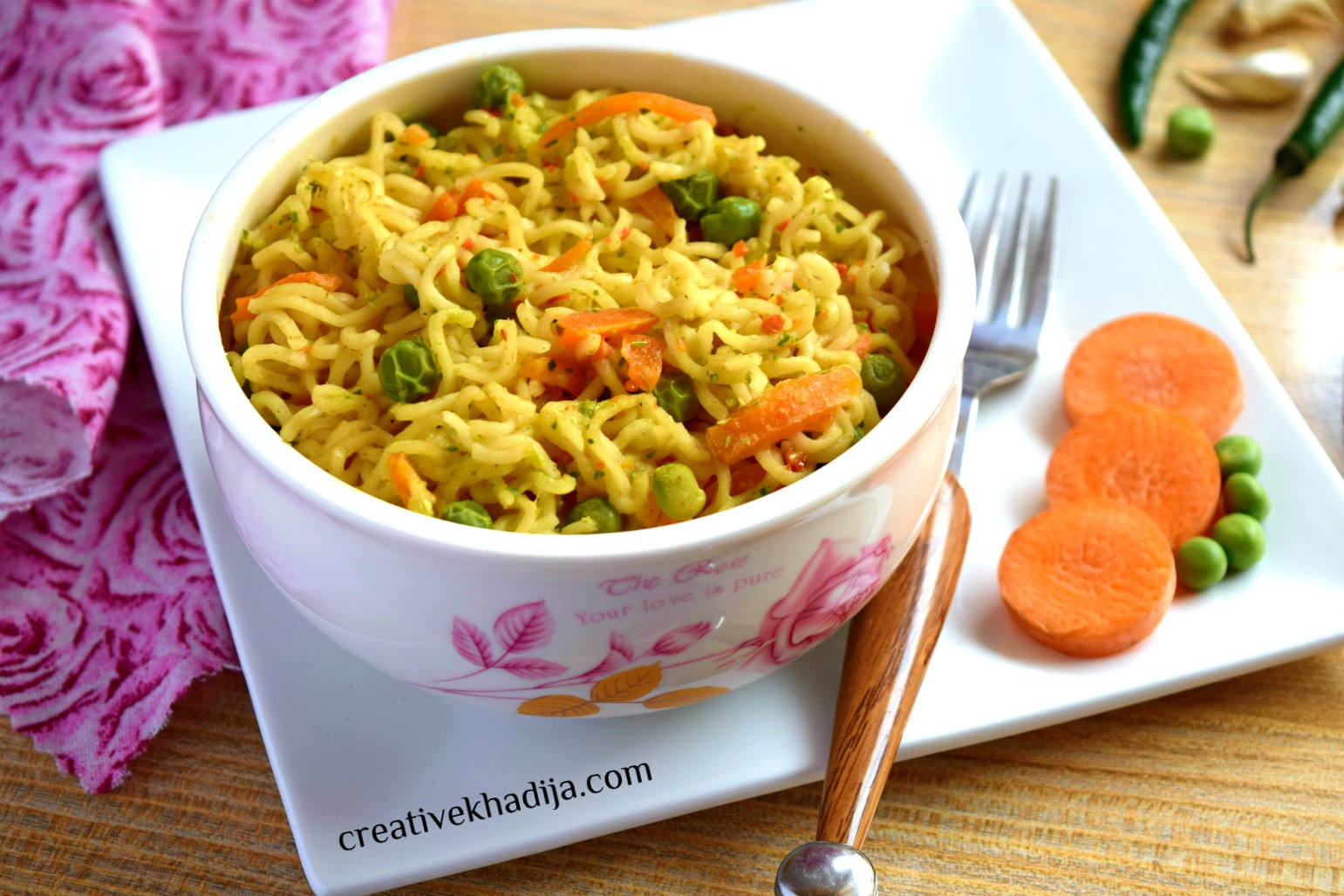 How To Make Noodles by Available Vegetables at Home