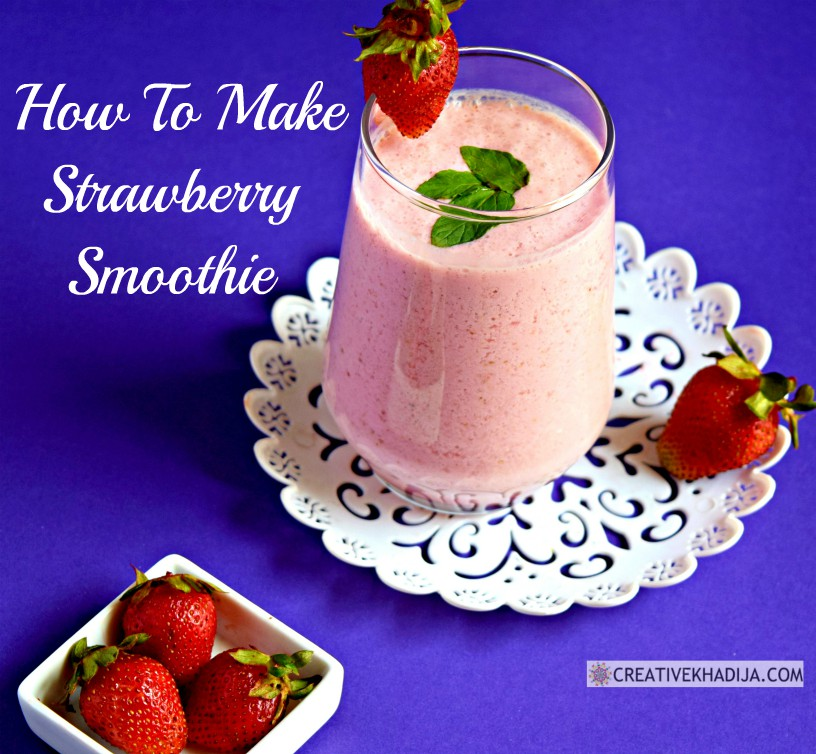 how to make strawberry smoothie immunity booster drink