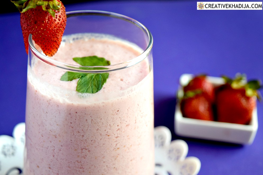 easy recipe of making strawberry smoothie immunity booster drink