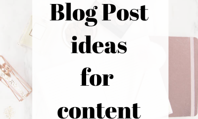 101 Blog Post Ideas For Content Creators