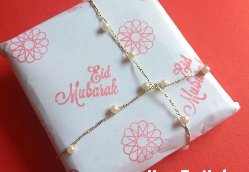 How To Wrap a Gift with Customized Paper Sheet-DIY