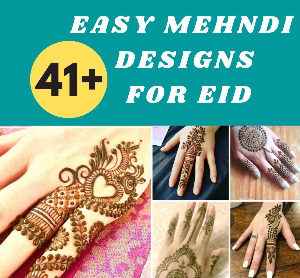 easy Mehndi Designs For Eid ul fitar 2020