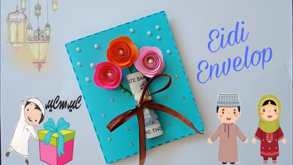 easy crafts for making eidi envelopes floral eidi card