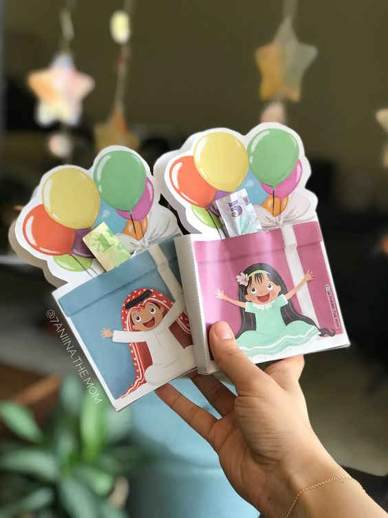 easy crafts for making eidi envelopes 3D eidi holders