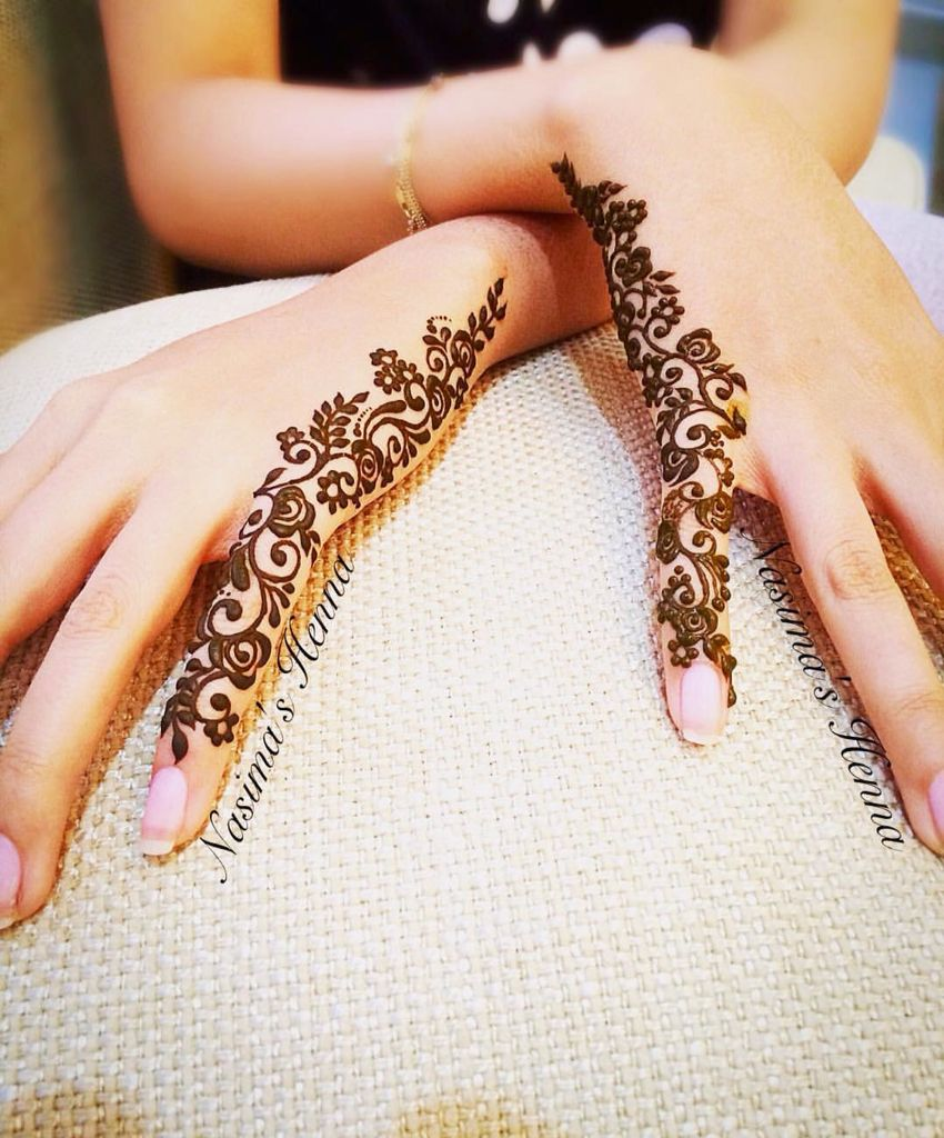 41 mehndi designs for Eid to try this year for fingers 1