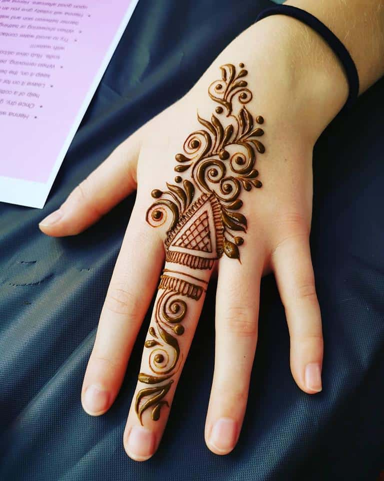 41 mehndi designs for Eid to try this year for fingers 2