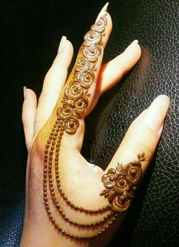 41 mehndi designs for Eid to try this year for fingers 3