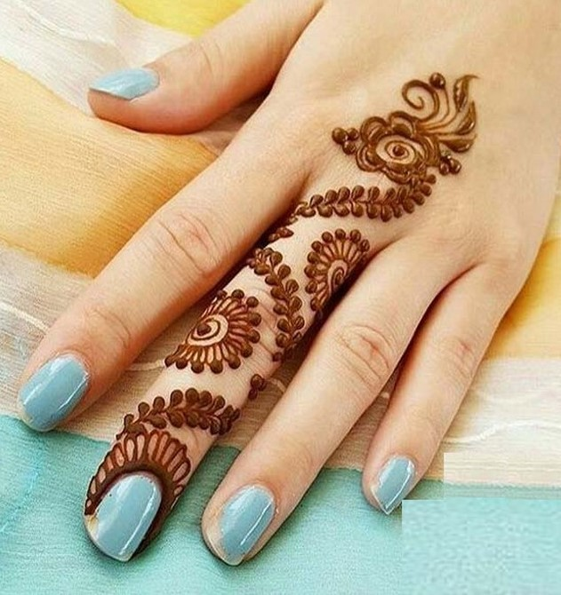 41 mehndi designs for Eid to try this year for fingers 4