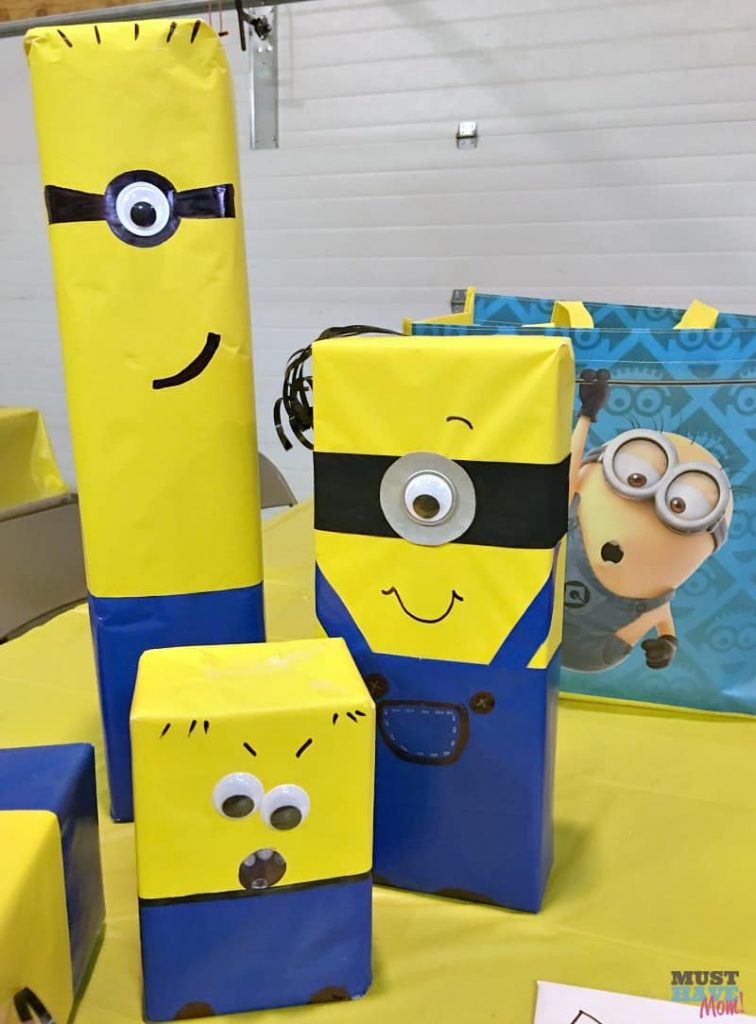 eid gifts packing ideas for kids minion gift wrap