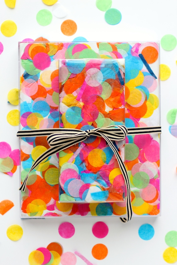 eid gifts packing ideas for kids confetti wrap
