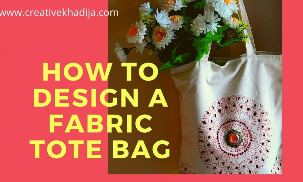 How To Paint Mandala Design on a Canvas Tote Bag
