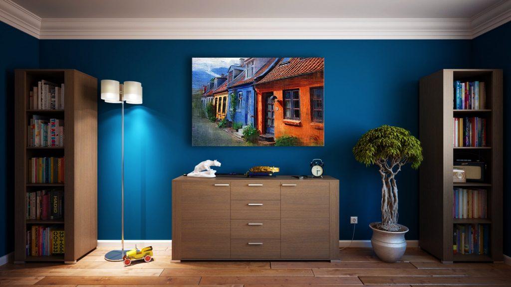 rental property selecting the walls