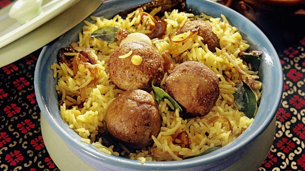 beef rice dishes kofta biryani