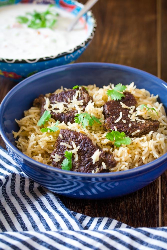 beef rice dishes yakhni pulao