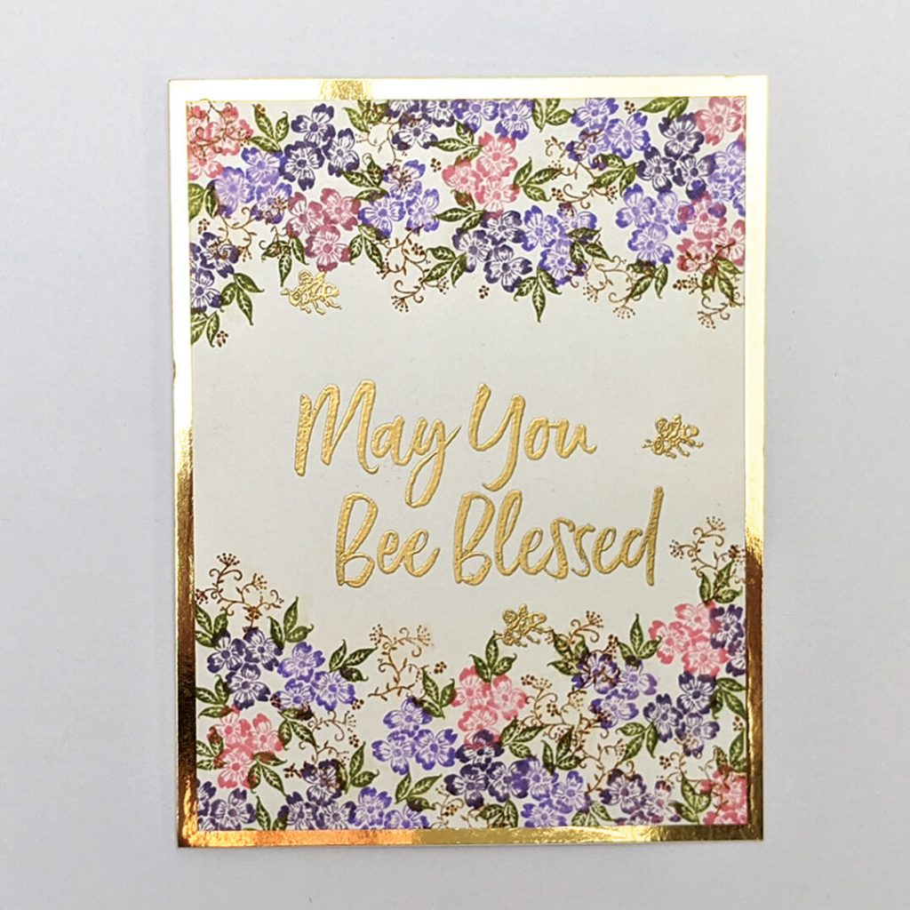 easy paper craft to make a beautiful card embossed card
