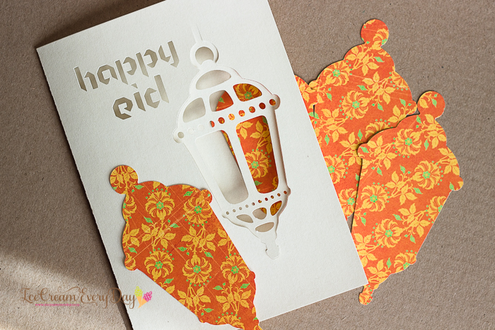 easy paper craft to make a beautiful card lantern cut out