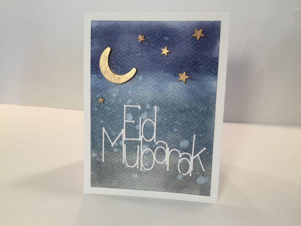 easy paper craft to make a beautiful card starry night