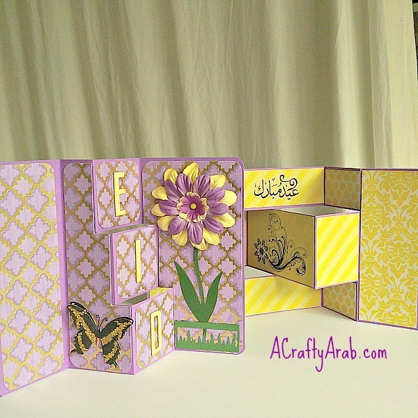 easy paper craft to make a beautiful card layered card