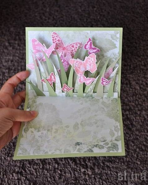easy paper craft to make a beautiful card 3D card