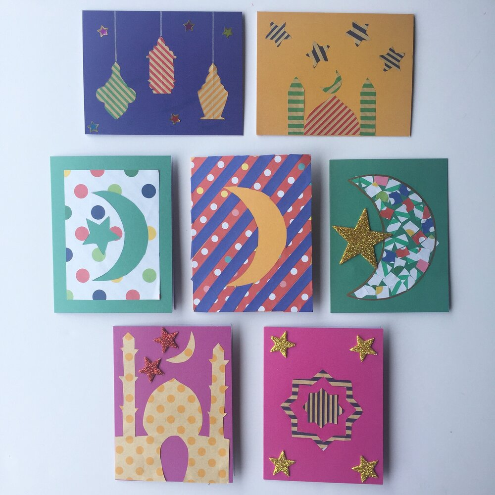 easy paper craft to make a beautiful card scrape paper cards