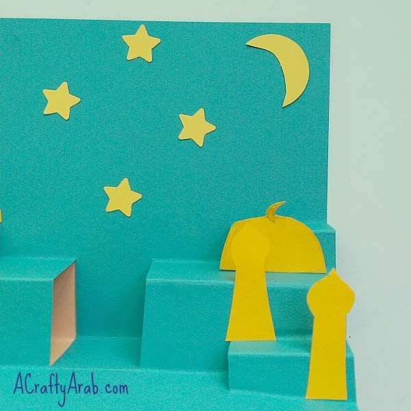 eid greeting card design for kids pop up card