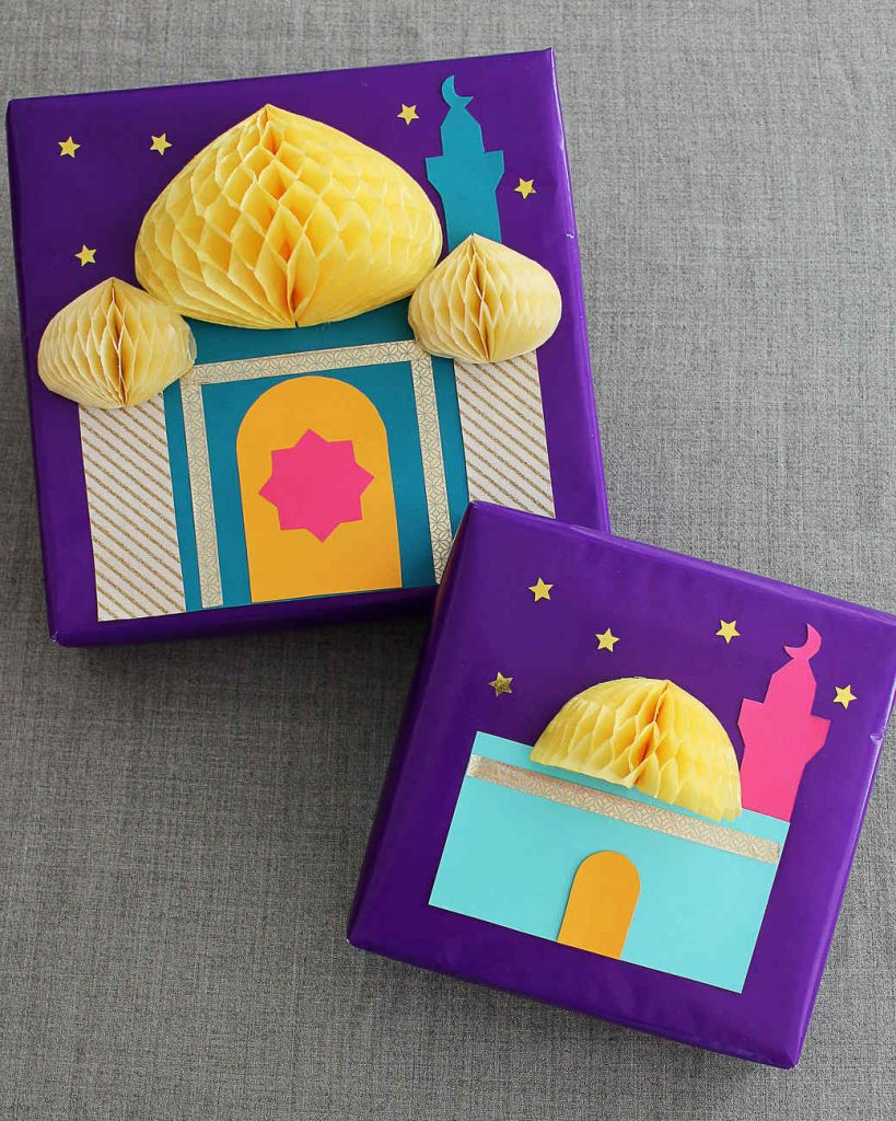 eid greeting card design for kids honeycomb card