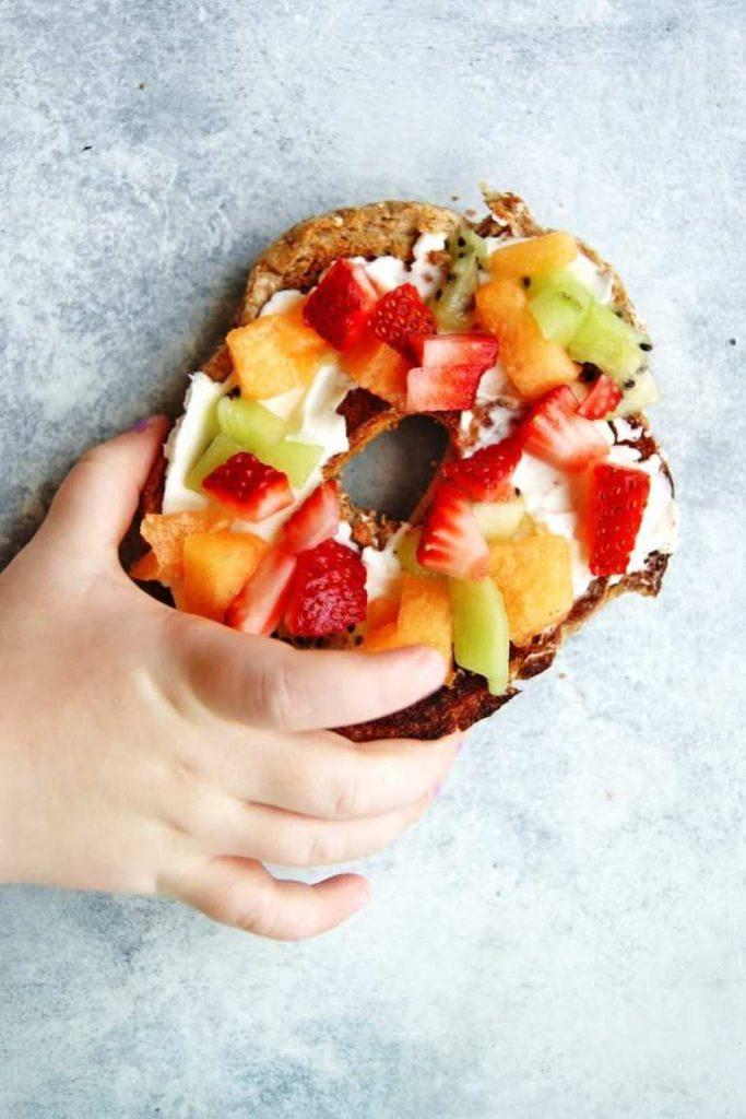 ideas for kids breakfast pizza bagel