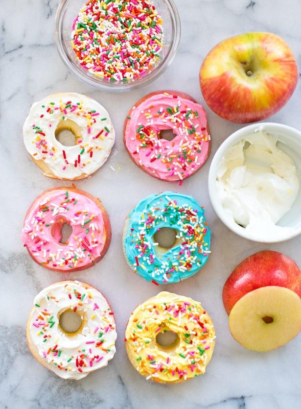 ideas for kids dinner apple donuts