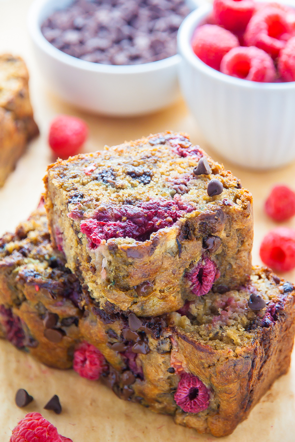 ideas for kids lunches raspberry banana bread