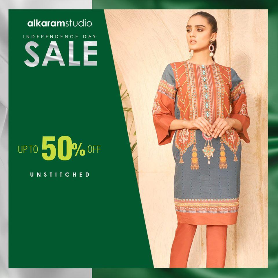 azadi deals and discounts on pakistani designer lawn brands alkaram