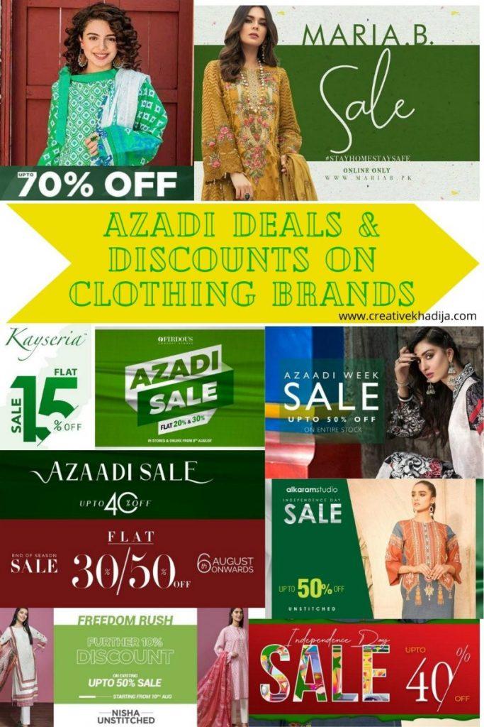 best azadi deals and discounts on Pakistani designer lawn brands