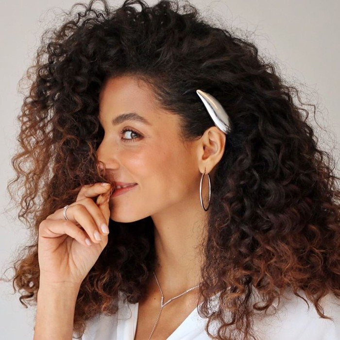 easy hairstyles for curly hair sea shell clip