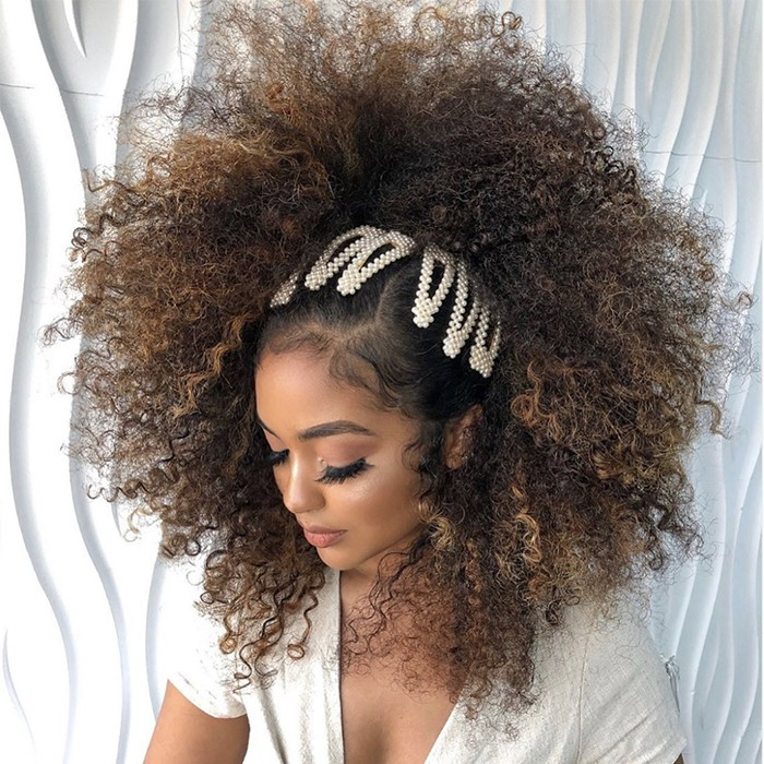 easy hairstyles for curly hair beaded clips