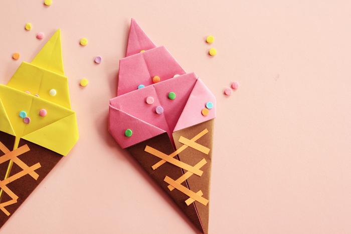 origami for beginners | ice cream cones