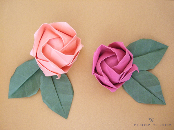 quick and easy origami flower for kids