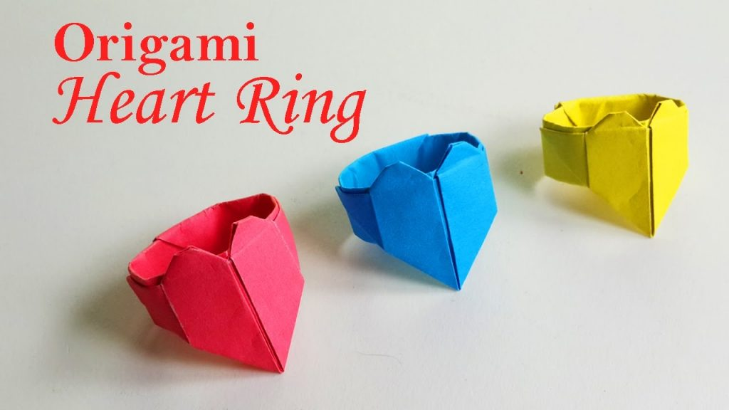 how to make simple origami for kids heart ring