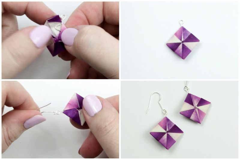 fun projects of origami for beginners earrings