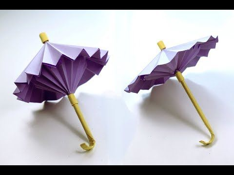 fun projects of origami for beginners umbrella