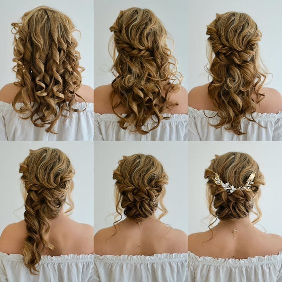how to style curly hair romantic up do