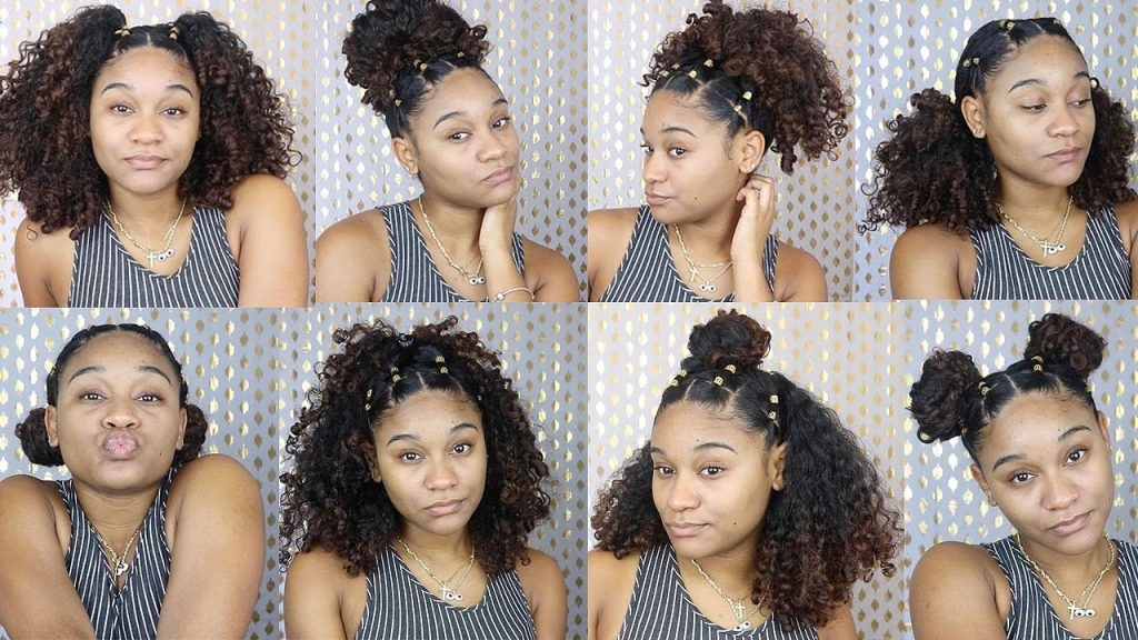 how to style curly hair multiple hairstyles